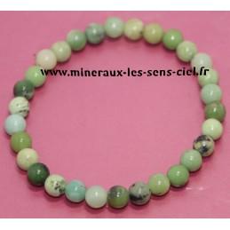 Bracelet boules 6mm pierre Chrysoprase