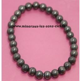 Bracelet Boules 6mm pierre Pyrite