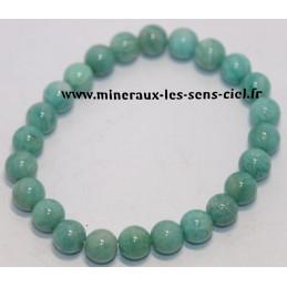 Bracelet boules 8mm pierre Amazonite qualité extra