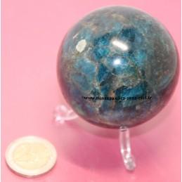 Sphère 60mm pierre Apatite Bleue poli