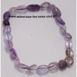 Bracelet nuggets pierre Amétrine (améthyste et Citrine)