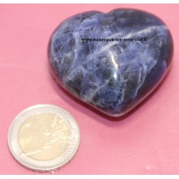 Coeur 45mm en pierre de Sodalite