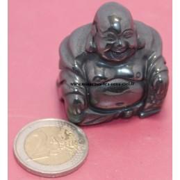 Bouddha en pierre Hématite