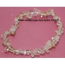 Bracelet baroque pierre Citrine du Brésil