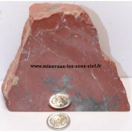 Bloc de pierre Jaspe rouge brute poli