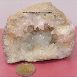 Géode Calcite Blanche Brute 495grs