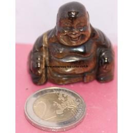 Bouddha en pierre Oeil de Tigre poli