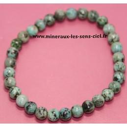 Bracelet boules 6mm pierre Chrysocolle
