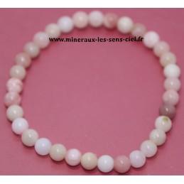 Bracelet Boules 6mm Opale...