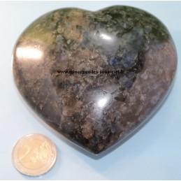Grand Coeur pierre iolite brute poli