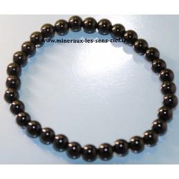 Bracelet boules 6mm pierre onyx noire