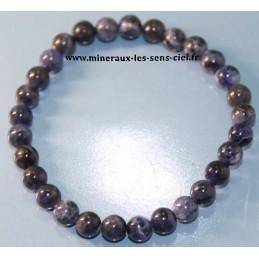 Bracelet boules 6mm pierre sodalite poli