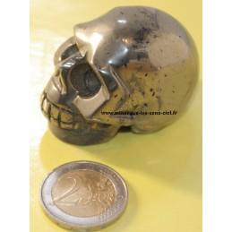 Crâne en pierre pyrite du Pérou