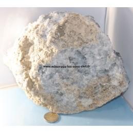 Plaque de pierre Célestine brute