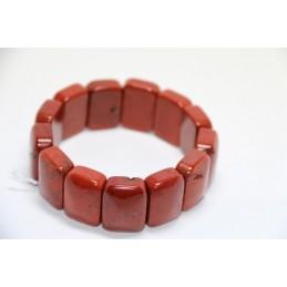 Bracelet plaquette large Jaspe Rouge