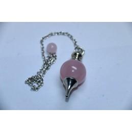 Pendule Sphère Quartz Rose