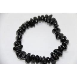 Bracelet Baroque tourmaline Noire poli