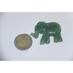 Pendentif Eléphant en Aventurine