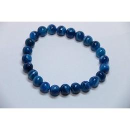 Bracelet Boules 8mm Agate Bleue