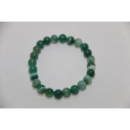 Bracelet Boules 8mm Agate Verte
