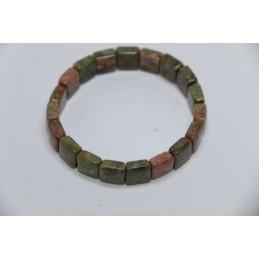 Bracelet square Unakite