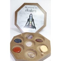 Boite en bois Galet 7 chakras