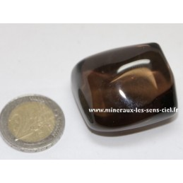 Quartz Fumé galet pierre roulée 50gr