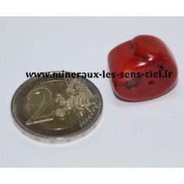 Corail Rouge pierre roulée percé