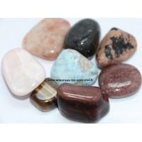 Choix complet de pierre roulées