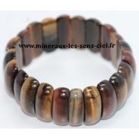 Bracelet en plaquette large pierre minéraux